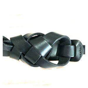 Loft black leather belt